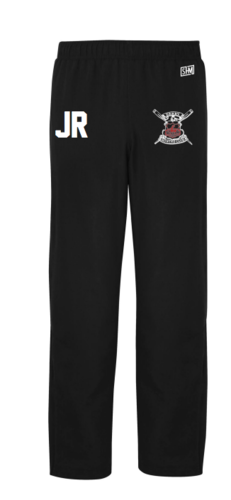 Derby Rowing Black Womens Trackies (Logo Embroidery, Everything Else Print)