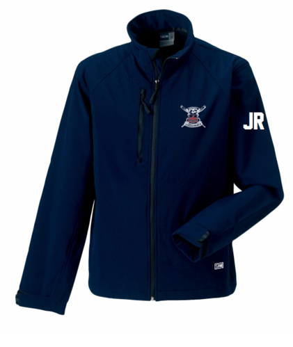Derby Rowing Navy Mens Softshell Jacket (Logo Embroidery, Everything Else Print)