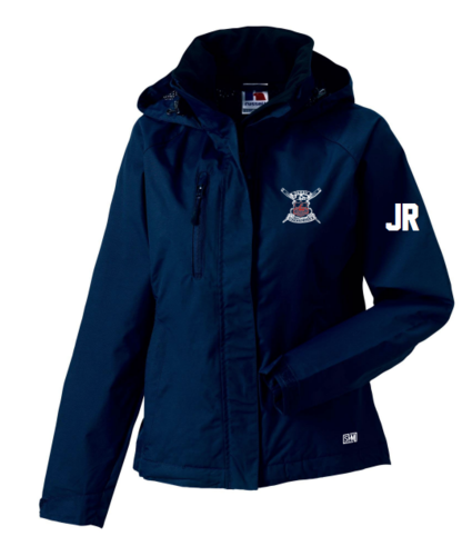 Derby Rowing Navy Mens Hydroplus Hooded Jacket (Logo Embroidery, Everything Else Print)