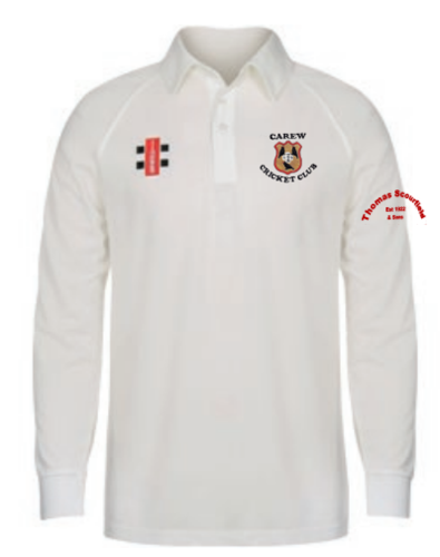 Carew Cricket Junior Matrix Ivory Long Sleeve