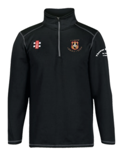 Carew Cricket Black Senior Storm Thermo Fleece