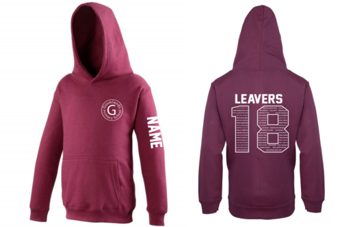 Grovelands Primary Adult Burgundy Leavers Hoody