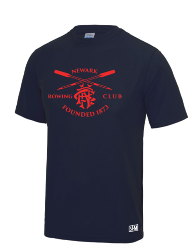 Newark Rowing Mens Navy Performance Tee (All Print)