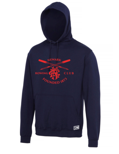 Newark Rowing Navy Mens Hoody (All Print)