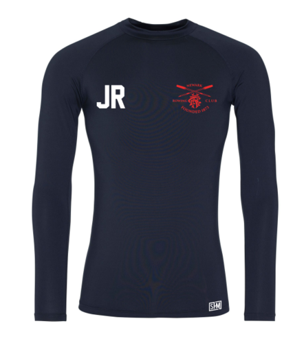 Newark Rowing Navy Mens Baselayer (All Print)