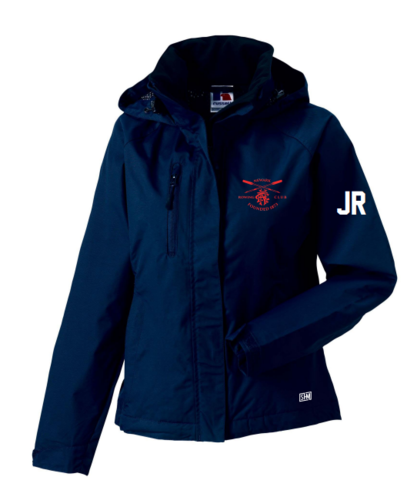 Newark Rowing Navy Womens Hydroplus Jacket (Logo Embroidery, Everything Else Print)