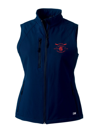 Newark Rowing Navy Womens Gilet Softshell (Logo Embroidery, Everything Else Print)