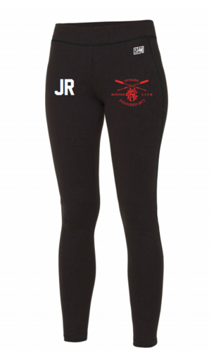 Newark Rowing Black Womens Leggings (All Print)