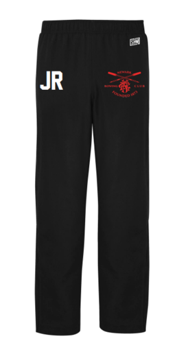 Newark Rowing Black Mens Trackies (Logo Embroidery, Everything Else Print)