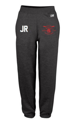 Newark Rowing Navy Womens Sweatpants (Logo Embroidery, Everything Else Print)