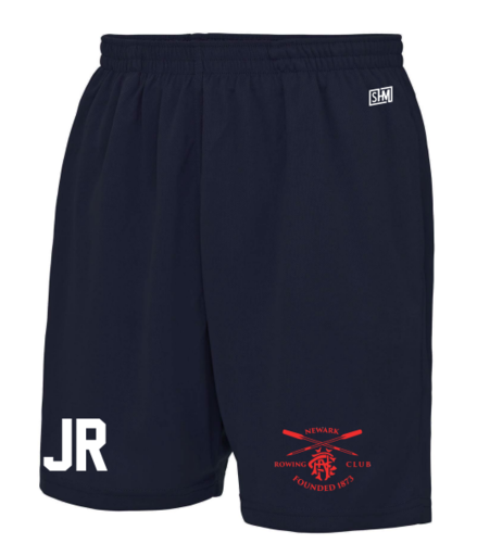 Newark Rowing Navy Unisex Shorts (Logo Embroidery, Everything Else Print)