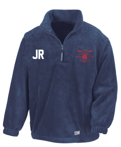 Newark Rowing Navy Unisex Fleece (Logo Embroidery, Everything Else Print)