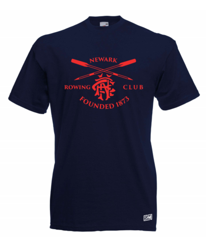 Newark Rowing Navy Mens Cotton Tee (All Print)