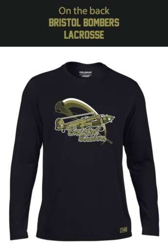 Bristol Bombers Black Mens Long Sleeved Performance Tee (All Print)