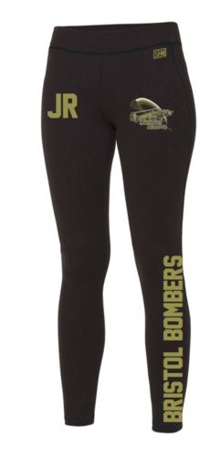 Bristol Bombers Black Unisex Leggings (All Print)