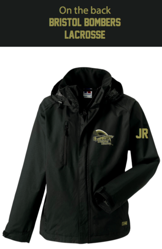 Bristol Bombers Black Womens Hydroplus Softshell Jacket (Logo Embroidery, Everything Else Print)