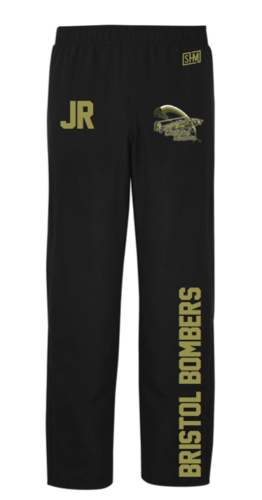 Bristol Bombers Black Mens Trackies (Logo Embroidery, Everything Else Print)