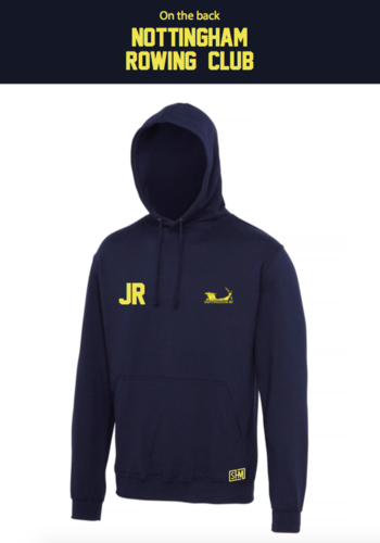 Nottingham Rowing Navy Unisex Hoody (Logo Embroidery, Everything Else Print)