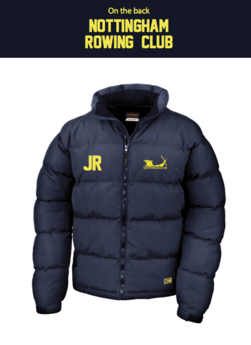 Nottingham Rowing Navy Unisex Puffa (Logo Embroidery, Everything Else Print)