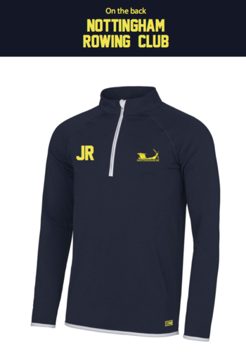 Nottingham Rowing Navy Mens Performance Sweatshirt (Logo Embroidery, Everything Else Print)