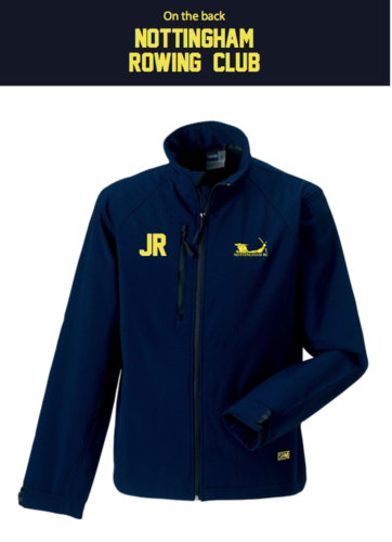 Nottingham Rowing Navy Mens Softshell Jacket (Logo Embroidery, Everything Else Print)