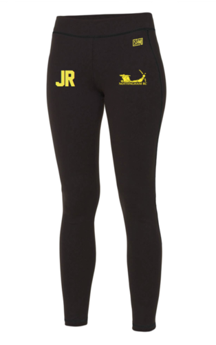 Nottingham Rowing Black Womens Leggings (All Print)