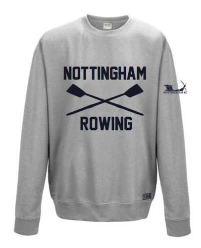 Nottingham Rowing Heather Grey Unisex Sweatshirt (All Print)
