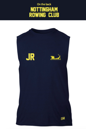 Nottingham Rowing Navy Sleeveless Vest (All Print)