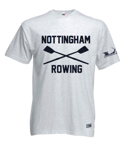 Nottingham Rowing Heather Grey Unisex Cotton Tee (All Print)