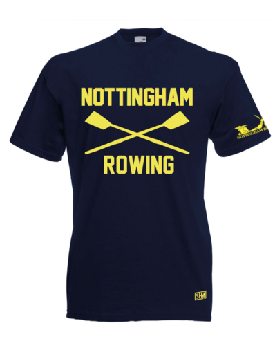 Nottingham Rowing Navy Unisex Cotton Tee (All Print)