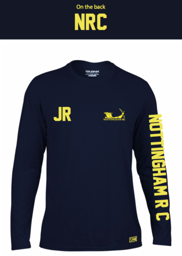 Nottingham Rowing Navy Womens Long Sleeved Performance Tee (All Print)