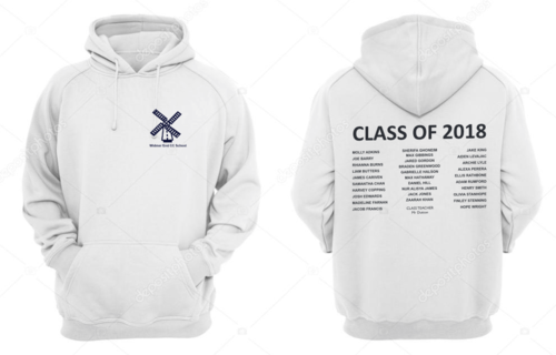 Widmer End CC Primary School Junior Leavers Hoodys (All Text In White On The Back)