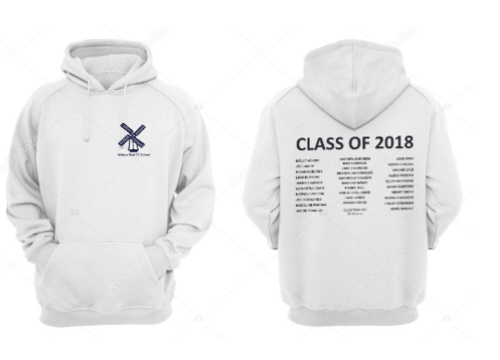 Widmer Primary CC Primary School Senior Leavers Hoody (White Text on Back)