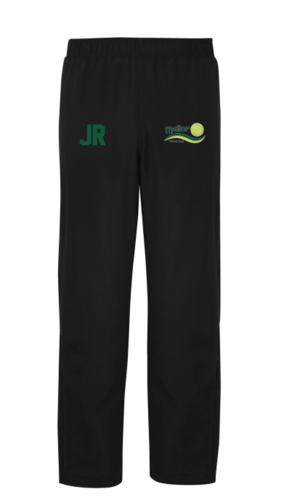Mellor Tennis Black Senior Track Pants (Logo & Initials Embroidery)