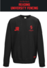 Reading University Fencing Black Unisex Sweatshirt (Logo Embroidery, Everything Else Print)