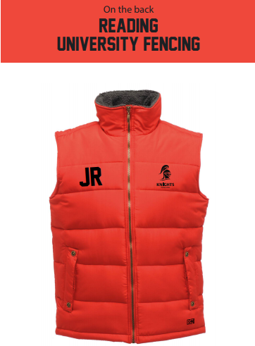Reading University Fencing Red Unisex Gilet (Logo Embroidery, Everything Else Print)