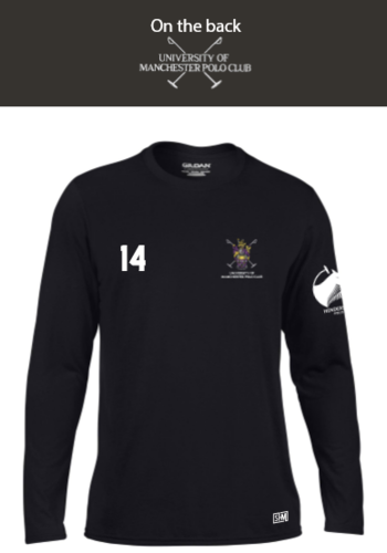Manchester Polo Black Mens Long Sleeved Performance Tee (All Print)
