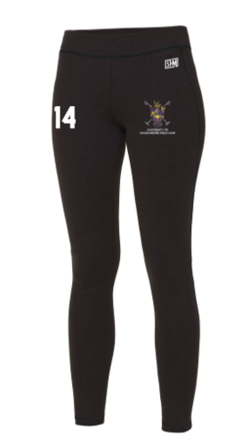 Manchester Polo Black Womens Leggings (All Print)