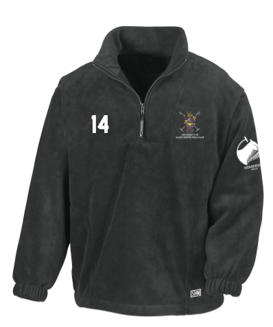Manchester Polo Black Unisex Fleece (All Embroidery)