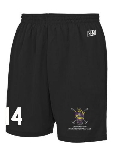 Manchester Polo Black Unisex Shorts (All Print)