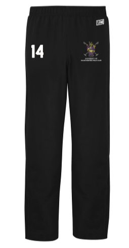 Manchester Polo Black Mens Trackies (All Embroidery)