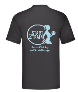 Start 2 Train Black Unisex Cotton Tee (All Print)