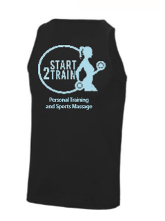Start 2 Train Black Unisex Performance Vest (All Print)