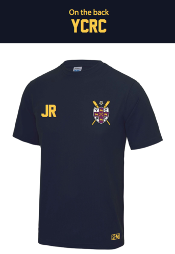 York City Rowing Navy Mens Performance Tee (All Print)
