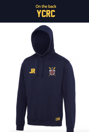 York Rowing Navy Unisex Hoody (Logo Embroidery, Everything Else Print)