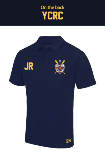 York City Rowing Navy Mens Performance Polo (Logo Embroidery, Everything Else Print)