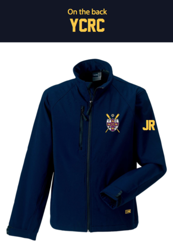 York City Rowing Navy Womens Softshell Jacket (Logo Embroidery, Everything Else Print)