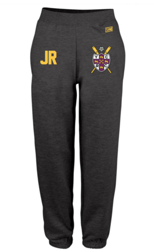 York City Rowing Black Womens Sweatpants (Logo Embroidery, Everything Else Print)