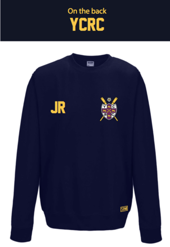 York City Rowing Navy Unisex Sweatshirt (Logo Embroidery, Everything Else Print)