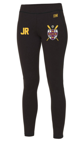 York City Rowing Black Womens Leggings (All Print)